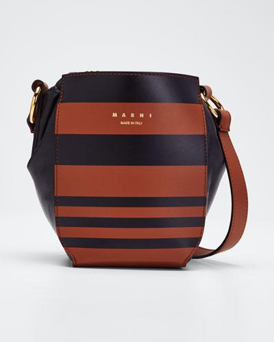 Gusset Striped Shoulder Bag