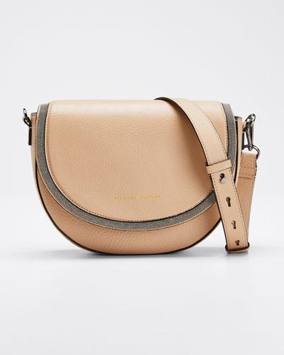 Leather Flap-Top Shoulder Bag