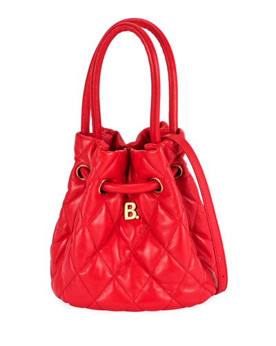 B Quilted Napa Bucket Bag