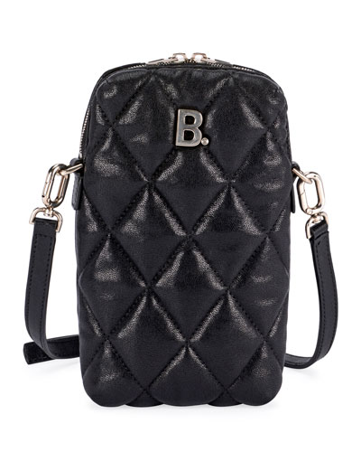 B Rectangle Quilted Crossbody Bag