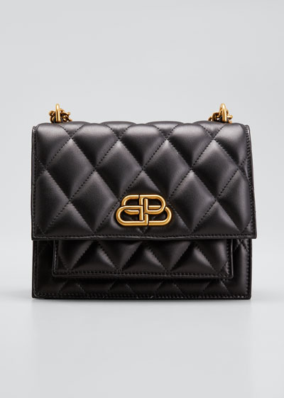 Sharp Small Quilted Shoulder Bag with Chain
