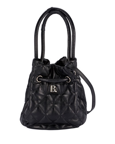 B Quilted Bucket Bag