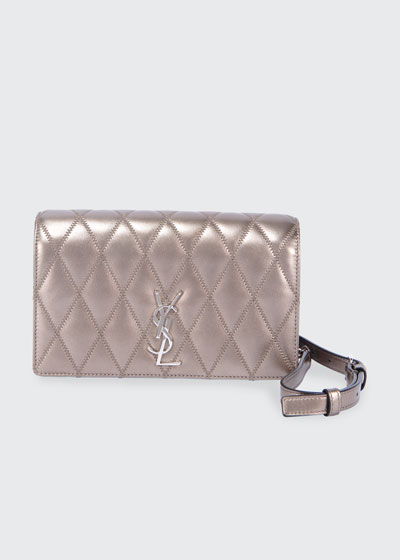 Angie YSL Monogram Quilted Calf Crossbody Bag