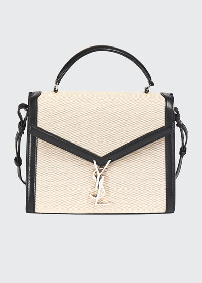 Cassandre YSL Monogram Canvas Top-Handle Bag - Silver Hardware