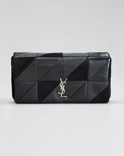 Jamie YSL Monogram Patchwork Shoulder Bag