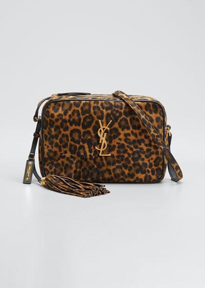 Lou Medium YSL Monogram Leopard Camera Bag