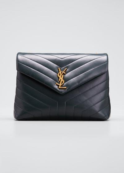 Loulou Medium YSL Monogram Calf Shoulder Bag