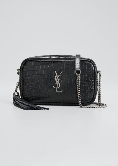 Lou Mini YSL Monogram Calf Camera Bag