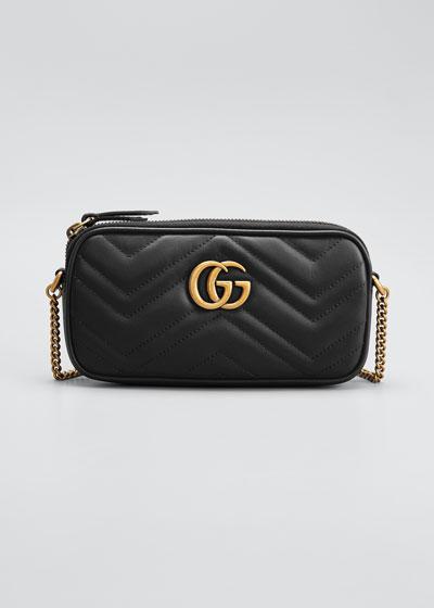 GG Marmont 2.0 Mini Matelasse Chain Wallet Bag