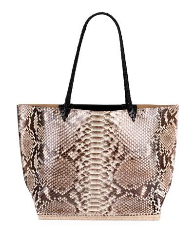 Espadrille Large Python Tote Bag
