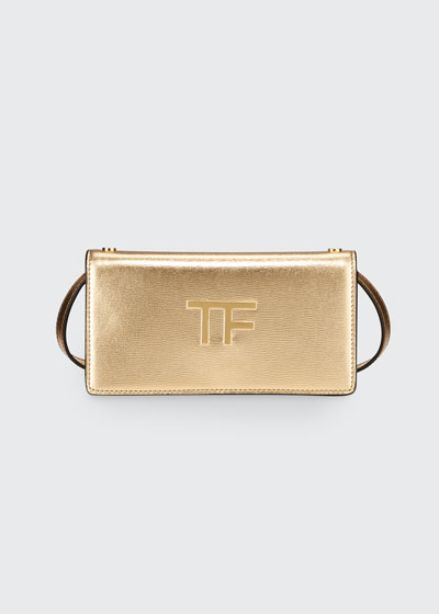 Palmellato Mini Metallic Leather Clutch Bag
