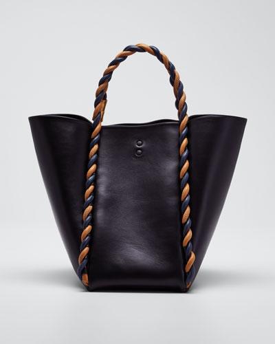 Lotus 28 Twist Satchel Tote Bag