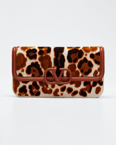 VSling Leopard Canvas Crossbody Bag
