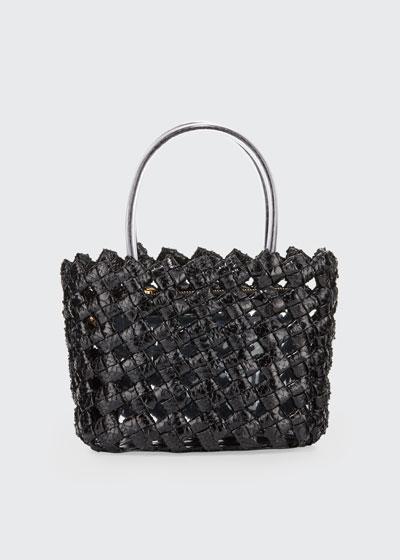 Small Woven Elaphe Tote Bag