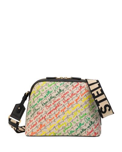 Eco Monogram Slogans Shoulder Bag