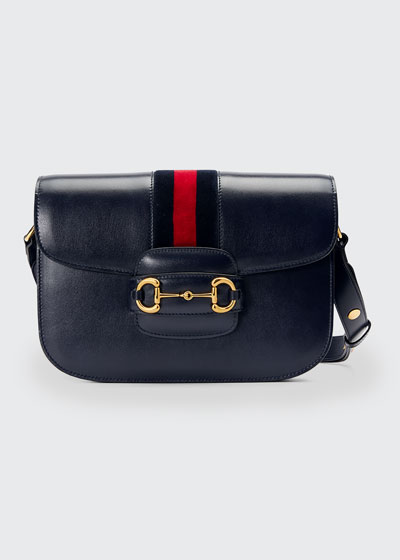 1955 Morsetto Small Leather Horsebit Shoulder Bag