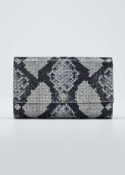 Fizzoni Crystal Clutch Bag with Shoulder Strap