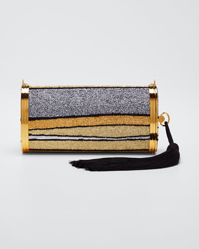 Mori Halcyon Metallic Clutch Bag