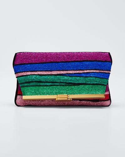 Halcyon Metallic Rainbow Clutch Bag