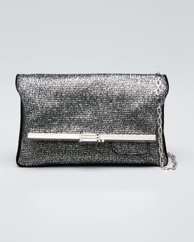 Gunmetal Chain Clutch Bag