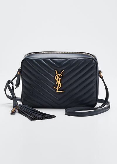 Lou Medium Monogram YSL Calf Crossbody Bag