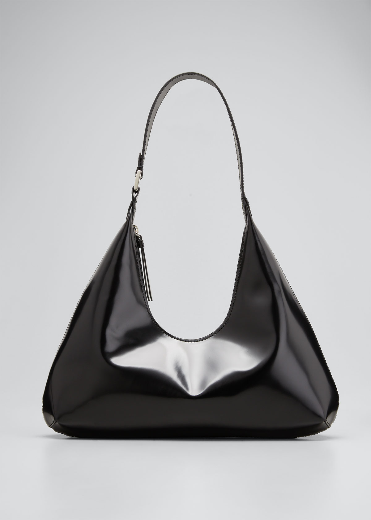 By Far Amber Semi-patent Leather Bag In Black