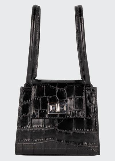 Sabrina Mock-Croc Tote Bag