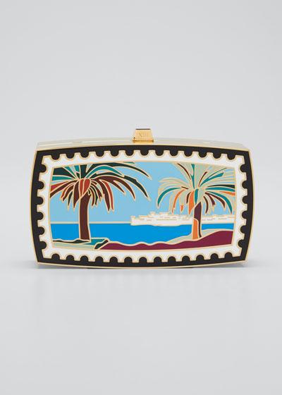 x Mary Katrantzou Mykonos Beach Minaudiere Clutch Bag