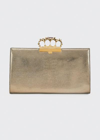 Metal Wire Four-Ring Metallic Clutch Bag