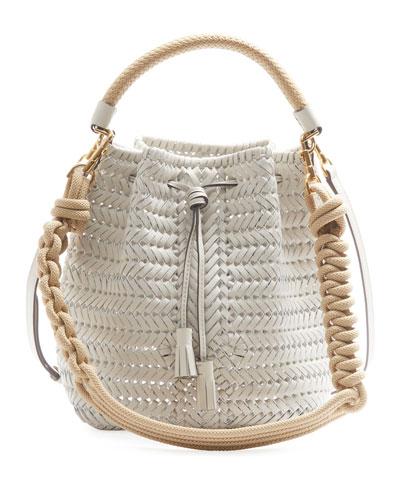 The Neeson Small Rope Drawstring Bucket Bag