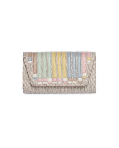 Anouk Small Colorblock Stripe Clutch Bag