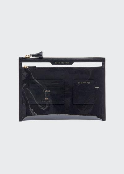 Safe Deposit Clear Zip Pouch Bag