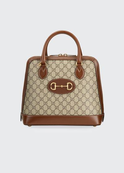 1955 Horsebit Medium GG Supreme Top-Handle  Bag