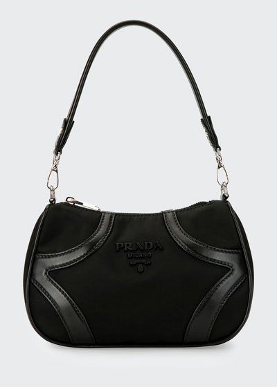Tessuto Nylon & Leather Bowling Bag