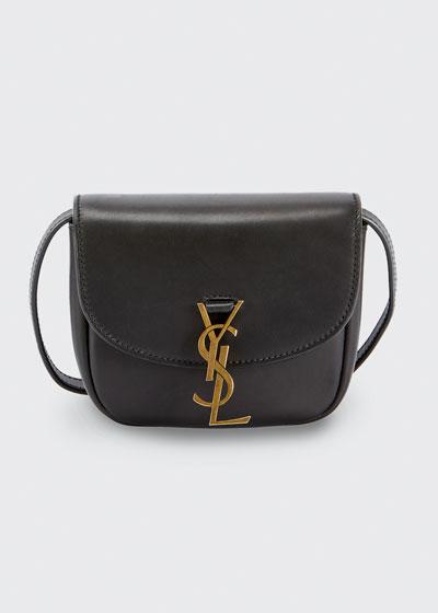 Monogram YSL Medium Flap-Top Leather Crossbody Bag