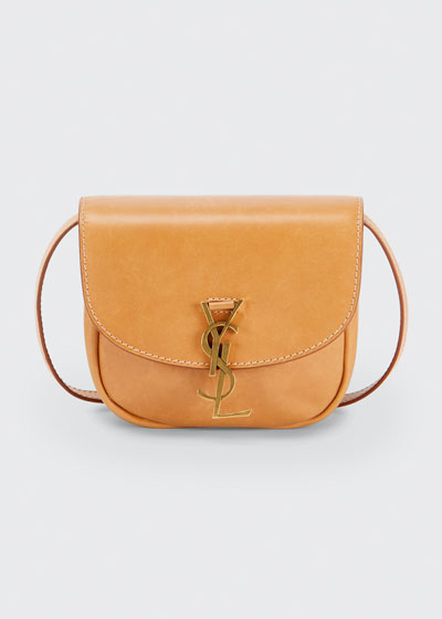 YSL Mini Flap-Top Leather Crossbody Bag