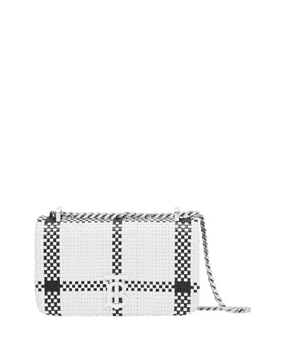 Lola Check Woven Crossbody Bag