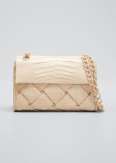 Madison Small Woven Shoulder Bag
