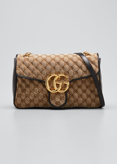GG Marmont 2.0 Medium Quilted Original GG Shoulder Bag