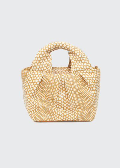Lera Snake-Embossed Top-Handle Bag