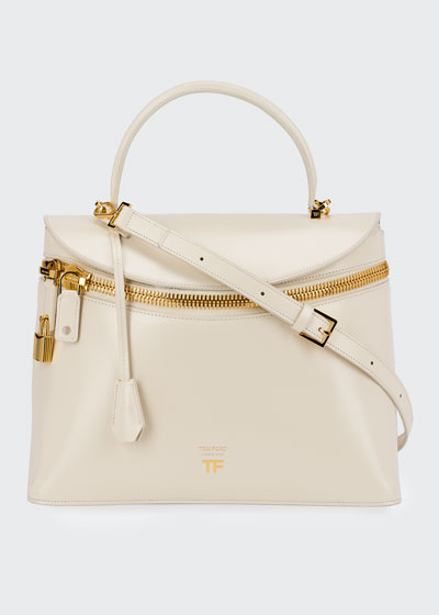 Metro Smooth Leather Top-Handle Bag