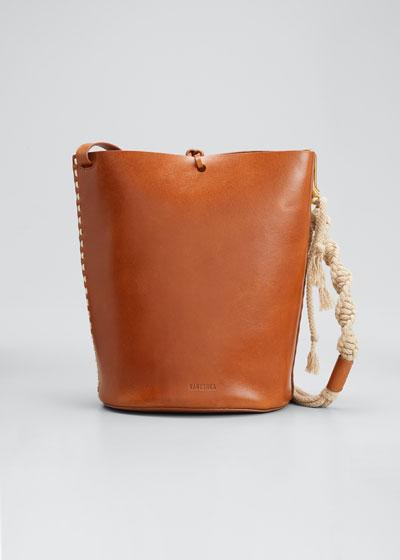 Nia Leather Bucket Bag