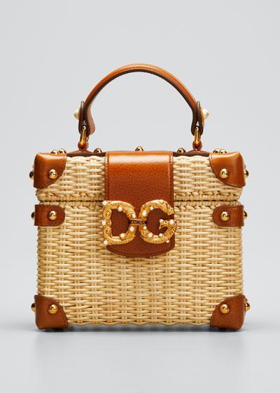 Wicker Box DG Top Handle Bag
