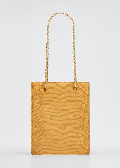 Antoinette Lizard-Print Chain Tote Bag