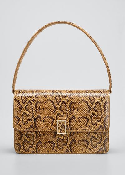 Katalina Snake-Print Shoulder Bag
