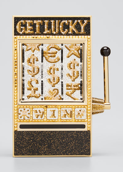 Crystal Get Lucky Slot Machine Clutch Minaudiere