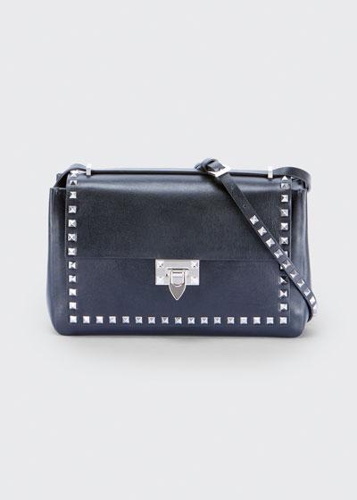 Rockstud Medium Leather Shoulder Bag