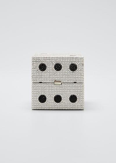 Cube Dice Box Clutch Minaudiere