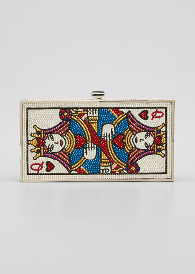 Queen Of Hearts Box Clutch Bag