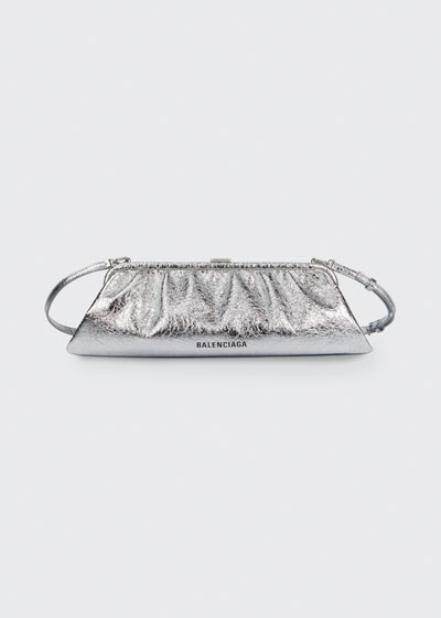 Cloud XL Metallic Leather Clutch Bag